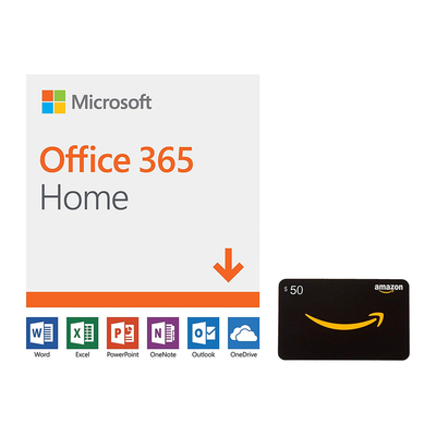 Office 365 Home 12-month subscription and $50 Amazon gift card
