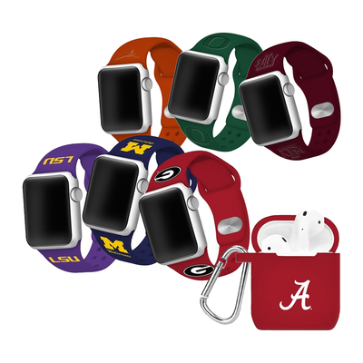 These discounted NCAA Apple Watch bands and AirPod cases let you rep your favorite team