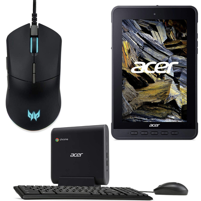 Acer mice, monitors, tablets, and more