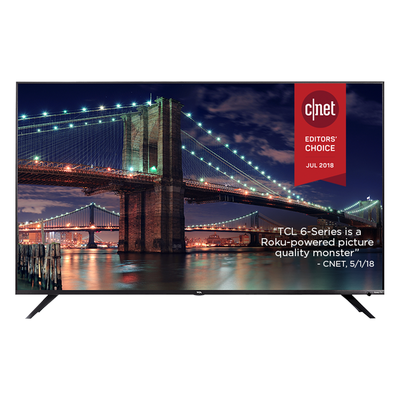 TCL 55-inch 6 Series 4K HDR Smart Roku TV (55R615)