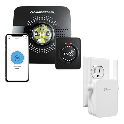 Chamberlain MyQ Smart Garage Door Opener with Wi-Fi Range Extender