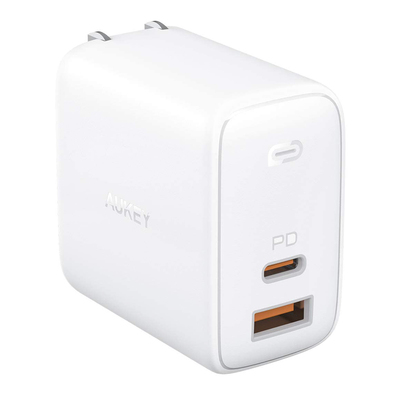 Aukey Omnia 2-port 65W USB-C Power Delivery 3.0 fast charger