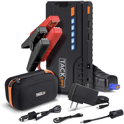 Tacklife T6 600A Peak 16500mAh Quick Charge 3.0 SuperSafe car jump starter