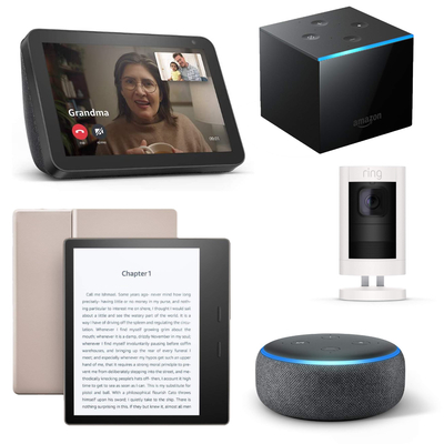 Amazon Echo, Fire TV, and Kindle devices
