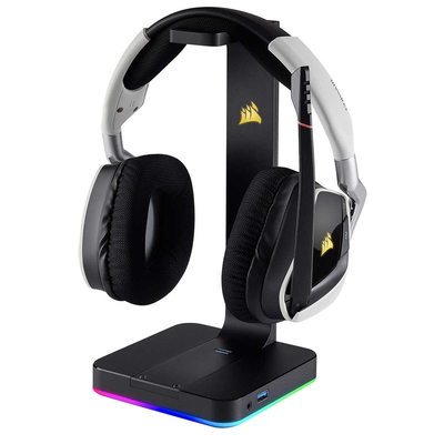 Corsair Void RGB Elite wireless headset and ST100 RGB Premium stand