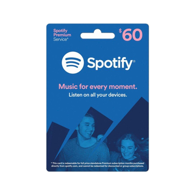 Spotify $60 Gift Card