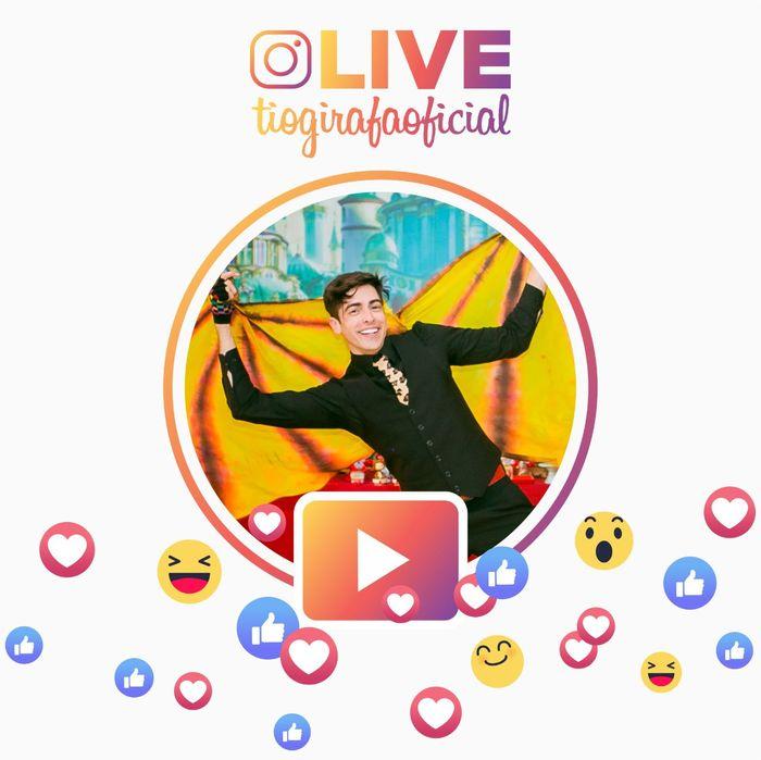 Brincadeira ao vivo todos os dias no Instagram Tio Girafa