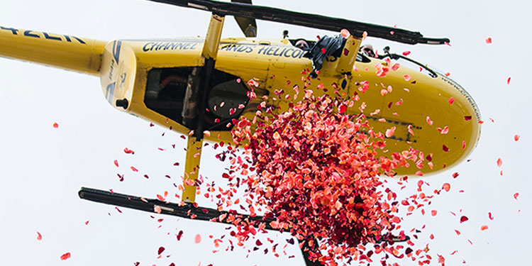 Welcome! Take an exotic helicopter ride to a location of your choice - the perfect gateway to celebrate.