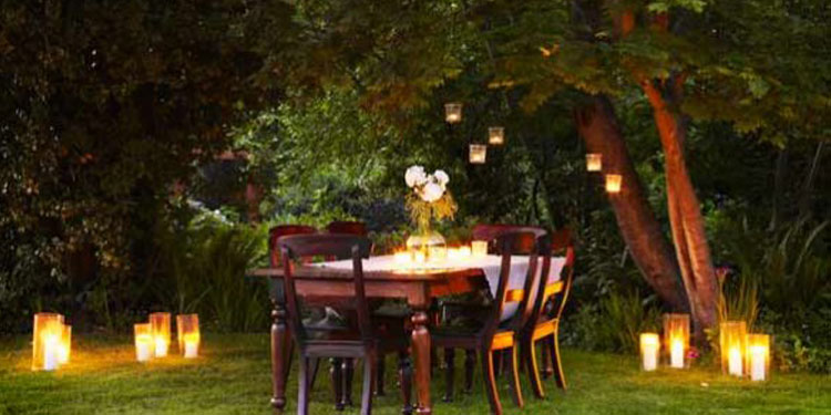 Love needs pampering! Pampering needs the right context and ambience! Pamper your love over a romantic candlelight dinner with a waterfall amidst picturesque garden.