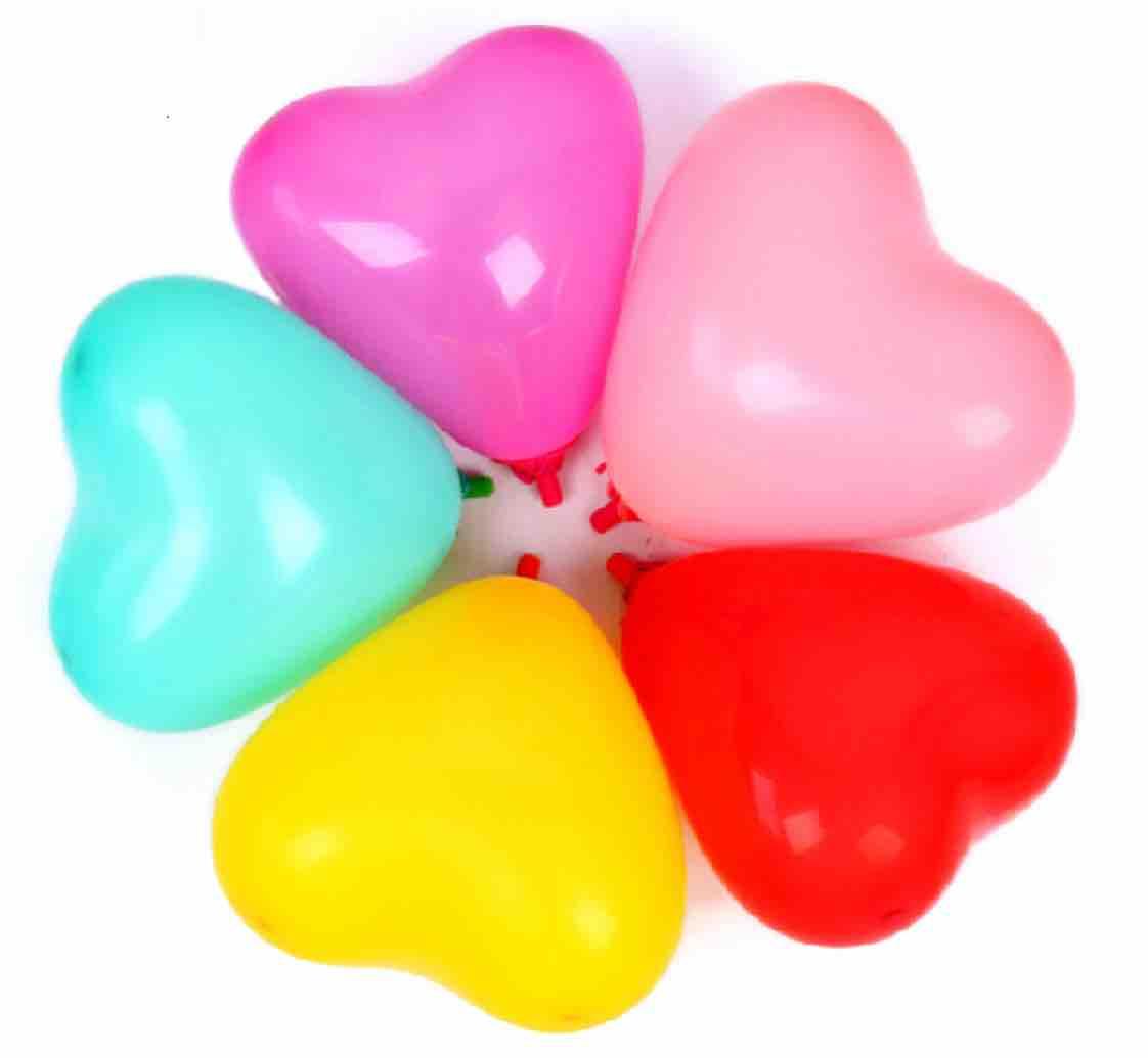 bong bóng cao su hình trái tim lớn 50 cái / gói