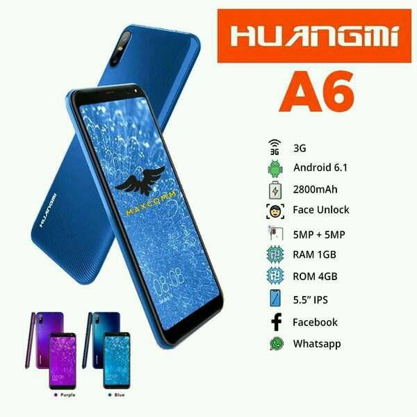 ANDROID  HUANGMI A6  RAM 1GB 5.5 INCH GARANSI RESMI - BIRU