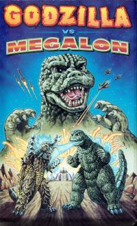 Cover art for Godzilla vs. Megalon VHS
