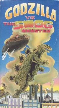 Cover art for Godzilla vs. The Smog Monster VHS