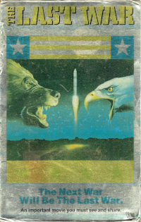 Cover art for The Last War VHS