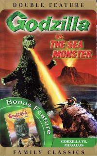 Cover art for Godzilla vs. The Sea Monster & Godzilla vs. Megalon VHS