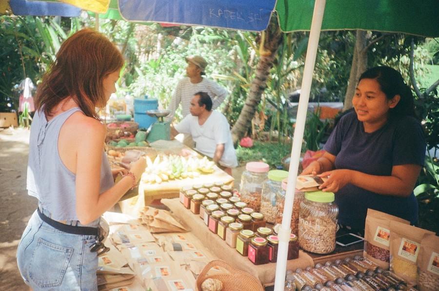 bali food stand