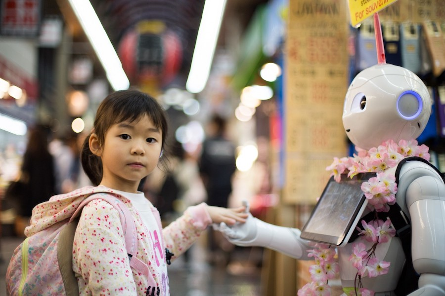 japanese girl with robot
