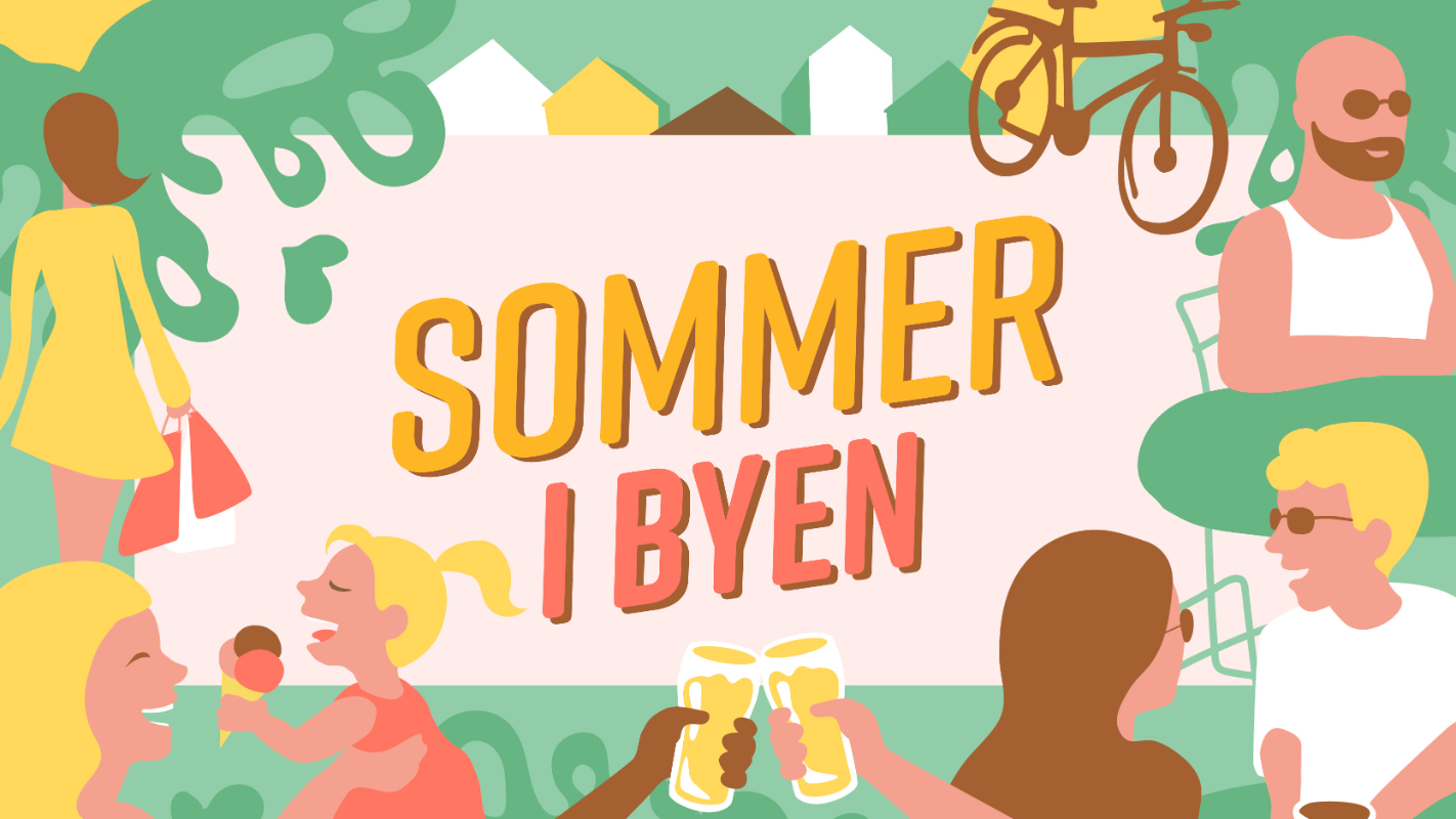 Illustrasjon Sommer i byen