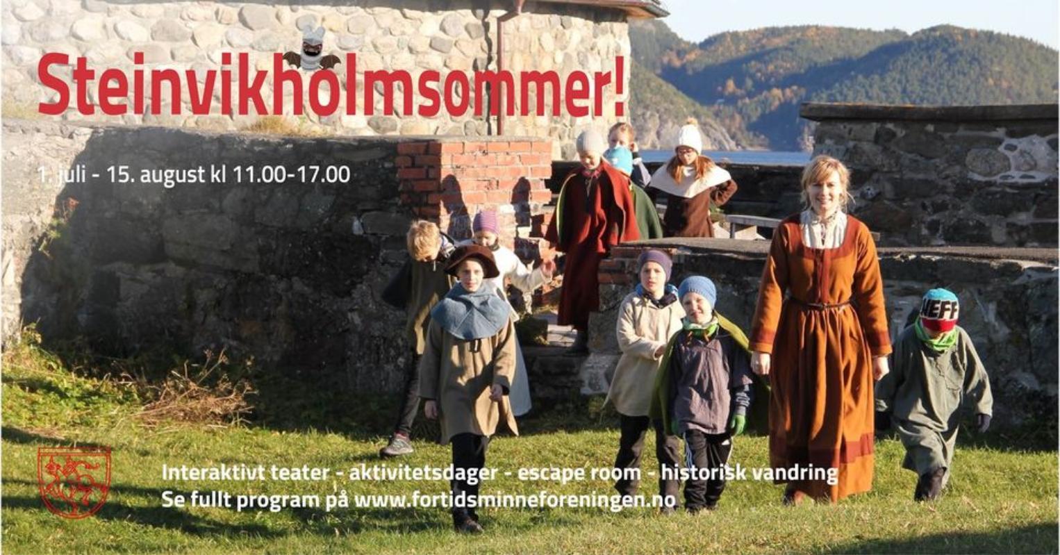 Velkommen til en spennende sommer på Steinvikholm slott!