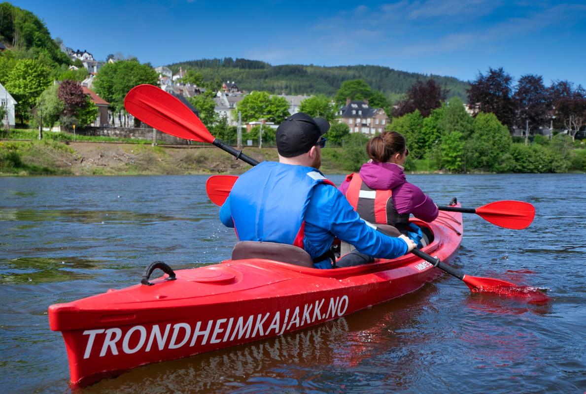 Sommer i byen med Trondheimkajakk