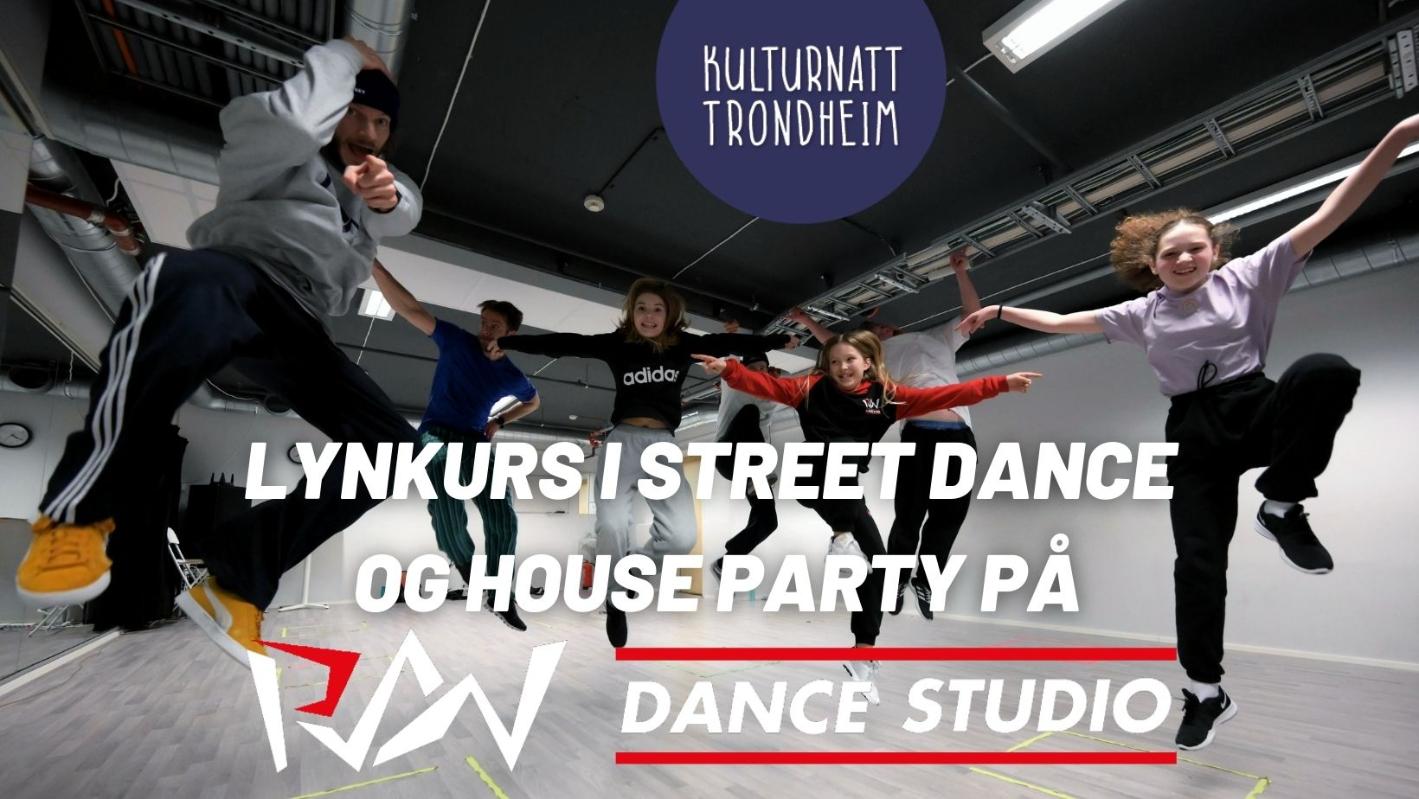 Lynkurs i Street Dance og House Party på RAW Dance Studio