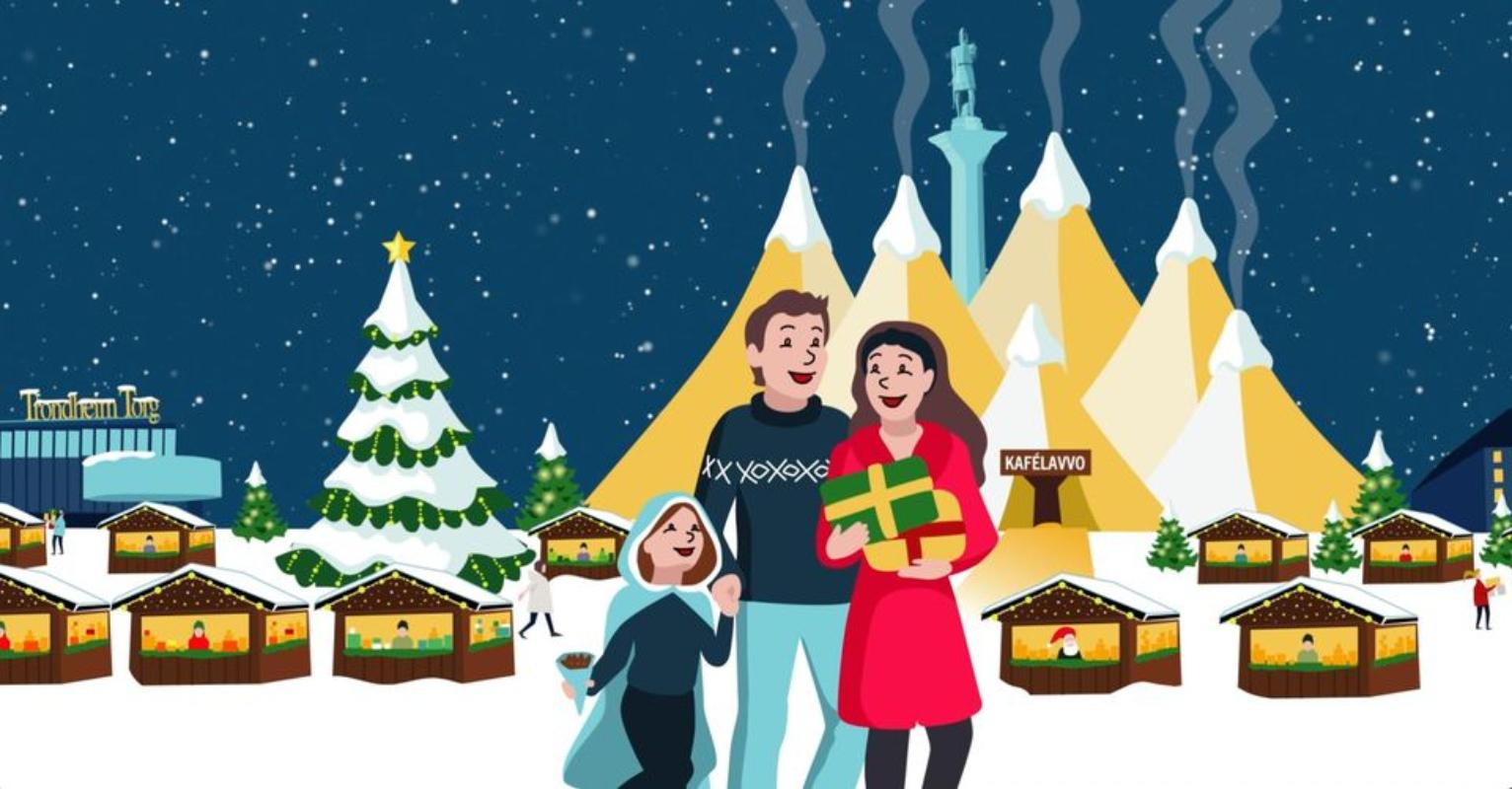 Julemarkedet i Trondheim illustrasjon