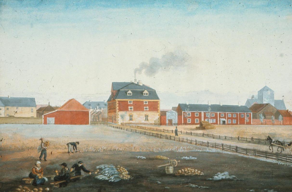 Sukkerhuset malt av Johannes Finne Rosenvinge (1804–1827).