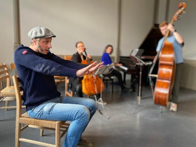 Frode Eggen, Bjørn Marius Hegge og Alpaca Ensemble.