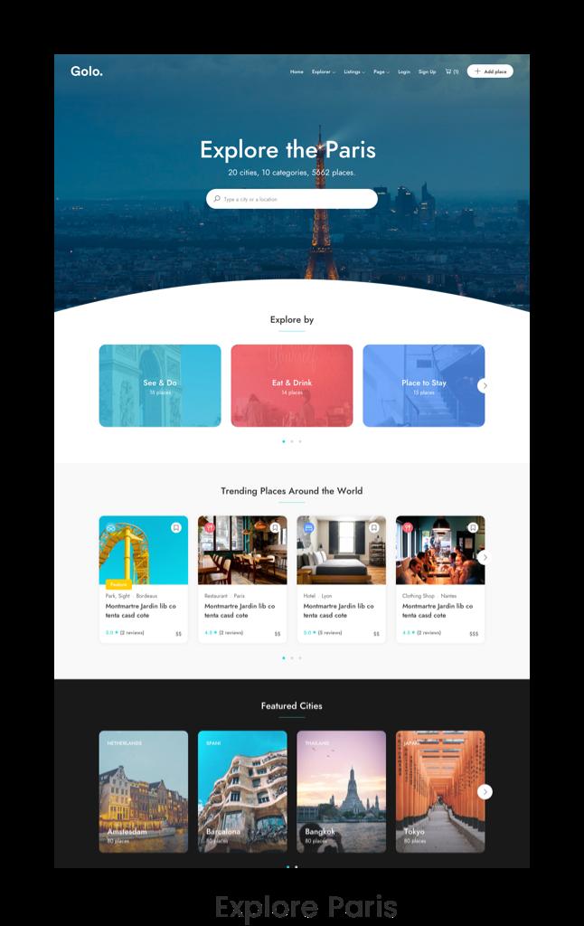 City Travel Guide WordPress Theme