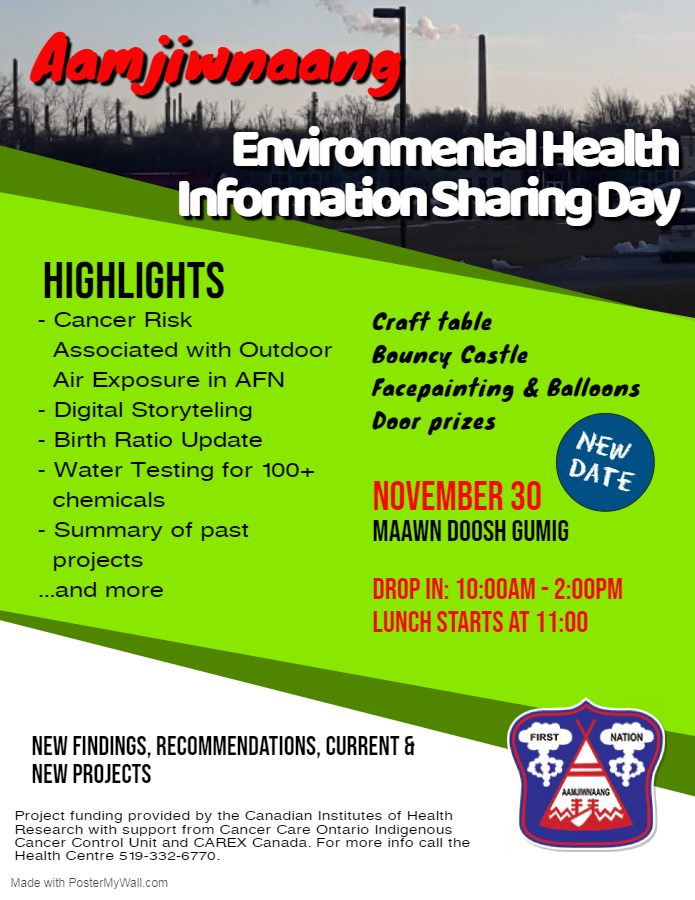Aamjiwnaang Environmental Health Information Saving Day