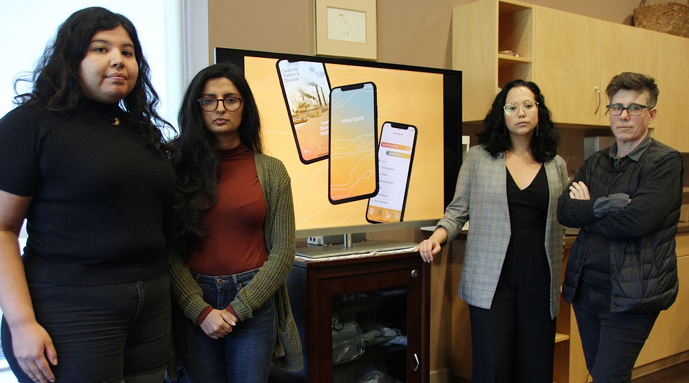 Pollution Reporter App and  Land and Refinery Team at launch, From Sarnia Observer
