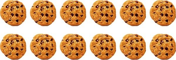12 cookies