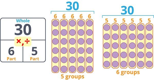 Multiplication Division Wholes Parts