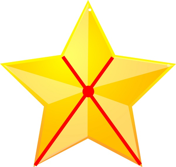look at the lines on this star
