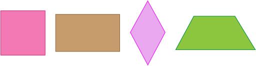 these are quadrilaterals