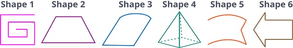 look at these 6 shapes