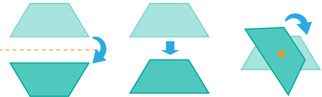 moving the trapezoid in different ways