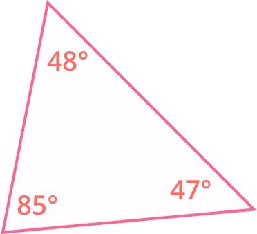 all the angles of the triangle are less than 90 degrees