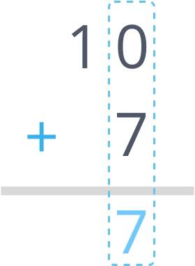 Zero plus 7 equals 7