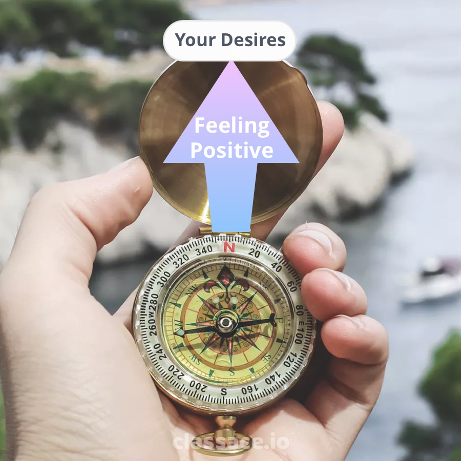 The emotional compass of happiness will point you to your desires.