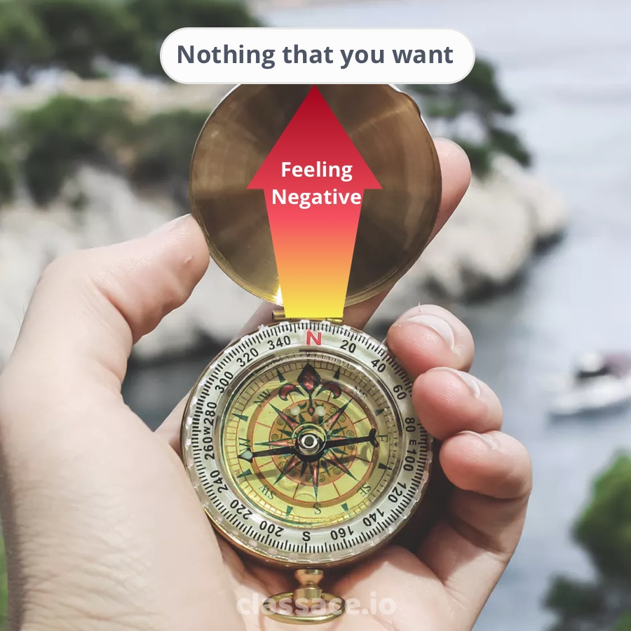 giving attention to negative thoughts will attract unwanted things
