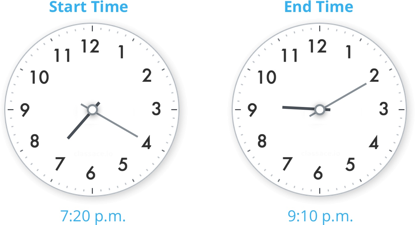 start time and end time
