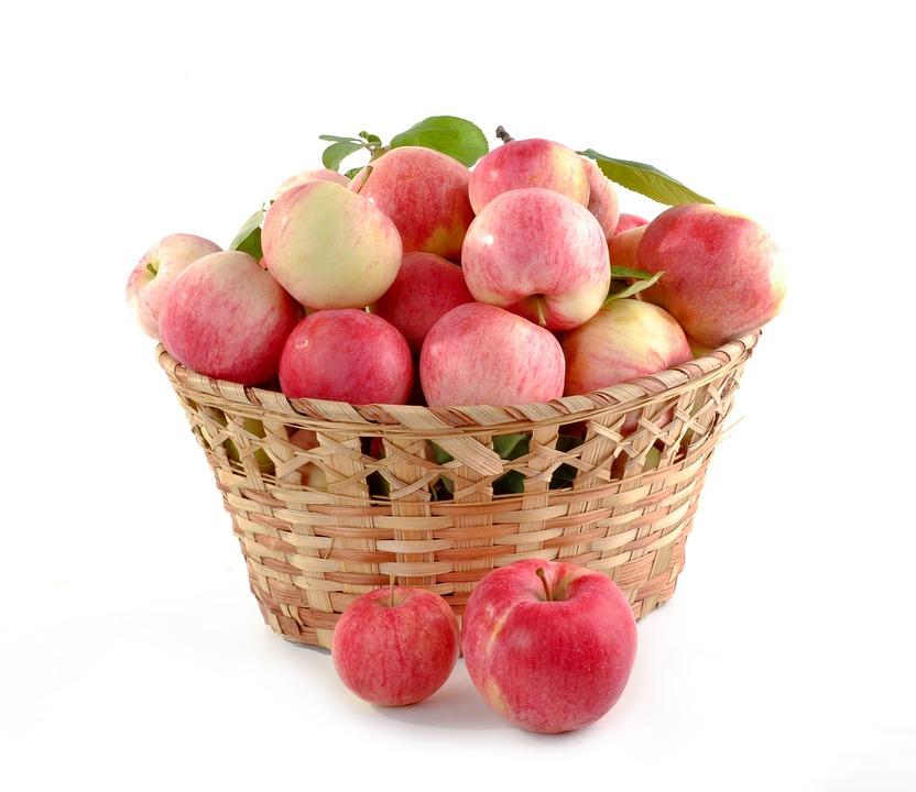 a basket of apples