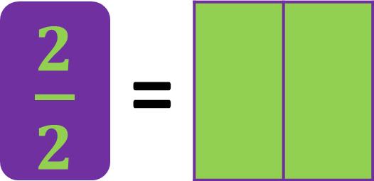 fraction model of two-halves