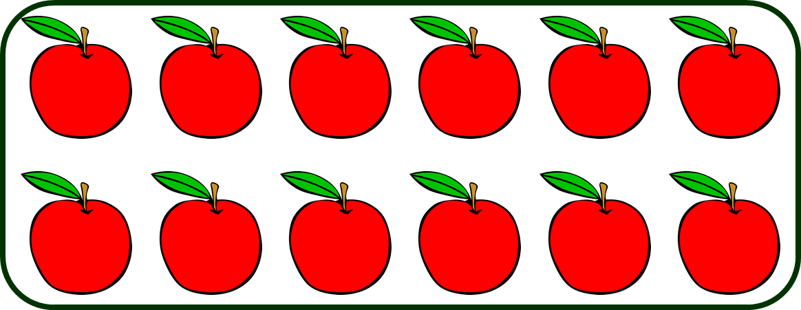 a set of 12 apples