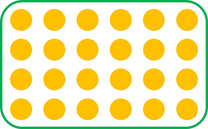 a set of 24 circles