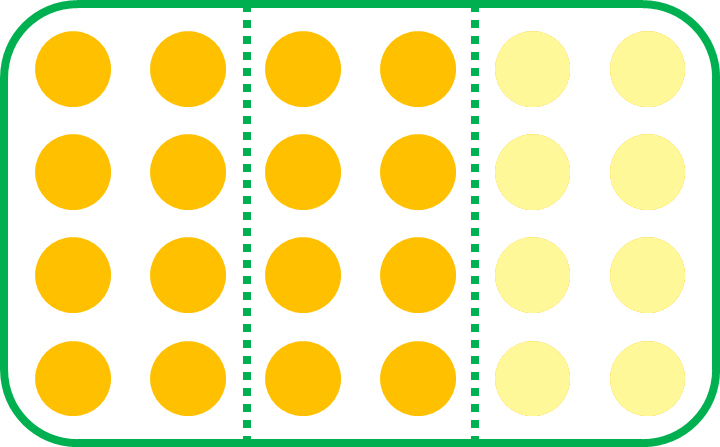 two-thirds of the set of 24 circles
