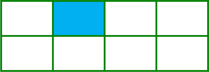 Rectangle with 1 part colored