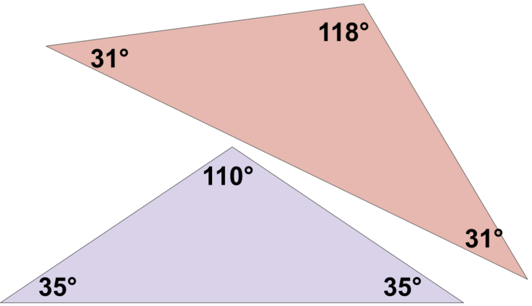 these are both obtuse triangles