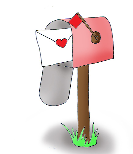 A letter in a mailbox.